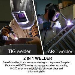 2-IN1 TIG 200A WELDER IGBT DC WELDER MMA ARC WELDING MACHINE 220V High Frequency
