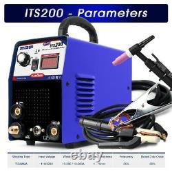 200A TIG/MMA Welder 2in1 DC Argon/Stick Welding Machine & Tig/ARC Accessories