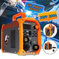 2IN1 200Amp TIG / STICK Argon Welder Welding Machine Inverter ARC MMA IGBT 220V