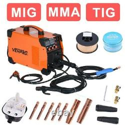 3-IN-1 MIG MMA TIG Welder 200A Inverter 230V Gas Gasless Arc Spool Welding Set