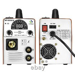 3 IN 1 MIG Welder Inverter Gas/Gasless 180A 220V ARC MIG MMA TIG Welding Machine