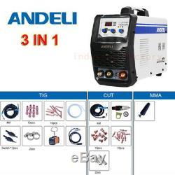 3in1 MMA/TIG/Plasma Cutting Welder Arc Welding Machine IGBT Inverter LED Display
