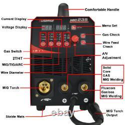4in1 MIG Welder Welding Machine 235A MIG MMA TIG ARC Combo Welder GASLESS 230V