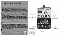 50 AMP Air Plasma Cutter 200 AMP Tig Stick/MMA/ARC Welder 3 in 1 Combo Welder