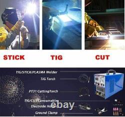 ARC TIG Welder Inverter MMA Gas/Gasless 240V 200A DC 3 in 1 TSC520 + Foot Pedal