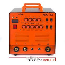 ARC TIG Welder Inverter MMA Gas / Gasless 240V 200amp DC 4 in 1 WSME-200 ROHR