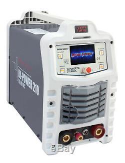 Bi-Power 210 AC/DC Inverter Schweißgerät 200A WIG Lift Arc/WIG HF/Pulse/MMA/VRD