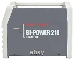 Bi-Power 210 AC/DC Inverter Schweißgerät 200A WIG Lift Arc/WIG HF/Pulse/MMA/VRD2