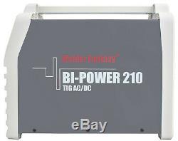 Bi-Power 210 AC/DC Inverter Schweißgerät 200A WIG Lift Arc/WIG HF/Pulse/MMA/VRD3