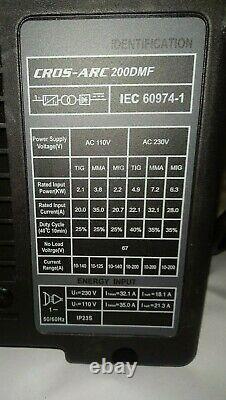 Cros Arc Mig / Tig / MMA Welder 200 Amps + Kit