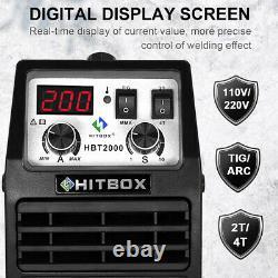 HITBOX 110V 220V Double Volt TIG Welder IGBT MMA ARC TIG 200A Welding Machine