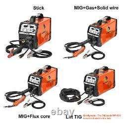 HITBOX 220V 200A 4in1 MIG Welder IGBT Gas Gasless MIG ARC Lift TIG MMA Welding