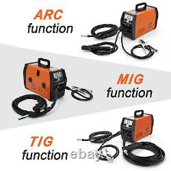 HITBOX 220V MIG Welder LIFT TIG ARC MMA Flux Core Wire Gasless/NoGas MIG Welding