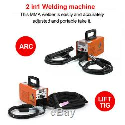 HITBOX 220V Welder LIFT TIG ARC IGBT MMA ARC STICK AC Inverter Welding Machine