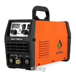 HITBOX Dual Function 110V 220V MMA/TIG Welder DC 200A Lift ARC Welding Machine