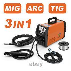 HITBOX MIG Welder LIFT TIG ARC MMA Flux Core Wire Gasless 220V MIG TIG Welder