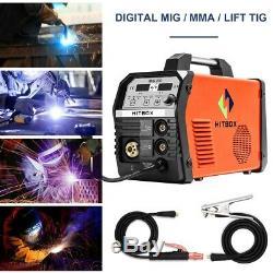 HITBOX MIG200 Welder 200A 220V MIG ARC Lift TIG 4in1 Welding Soldadora MIG MMA