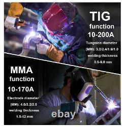 HITBOX Tig Welder 200Amp 220V Pulse Tig MMA ARC Inverter IGBT Welding Machine