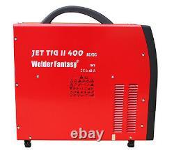 Inverter Schweißer JET TIG II AC/DC 400A IGBT WIG/MMA/HF/Lift-arc/Pulse/VRD 400V