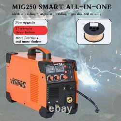 MIG 200A Inverter DC Welder 3-IN-1 MMA TIG Gas Gasless Arc Spool Gun Welding UK
