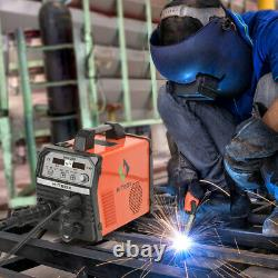 MIG Welder 220V 200A MMA ARC MAG Lift TIG LCD Welding Machine Flux Cored Wire