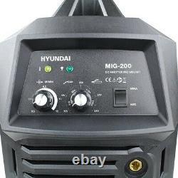 MIG Welder Hyundai HYMIG-200 200Amp MIG/MMA(ARC) Inverter Welder GRADED