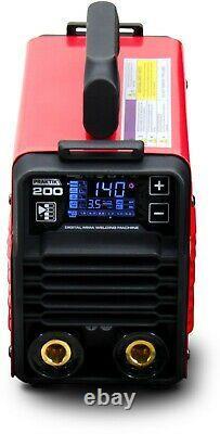 MMA ARC Welder Inverter 200AMP LED 6m CABLE IGBT TIG Stick Synergy Portable DC