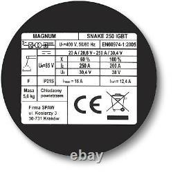 Magnum 250AMP Welder ARC/TIG Inverter IGBT MMA 2in1 Machine Stick 3phase