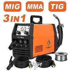 Mig 120a Igbt Inverter DC Welder 3-in-1 Mma Gasless Tig Arc Mig Welding Machine