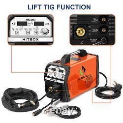 Mig 200a Igbt Inverter DC Welder 3-in-1 Mma Tig Gas Gasless Arc Welding Machine