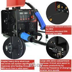 Mig 200a Inverter DC Welder 3-in-1 Mma Tig Gas Gasless Arc 15ak Mig Welding