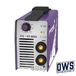 PARWELD XTS143 (XTS 142) MMA Arc Welding Inverter 140 AMP 230v + LEADS