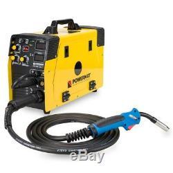 POWERMAT 220T MIG MAG FCAW TIG MMA ARC welder inverter 220AMP MIG220 5in1 weldin