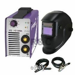 Parweld Inverter Welder XTS143 & Auto Welding Mask 230v MMA Arc Stick Welder