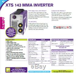 Parweld XTS143 MMA Arc Welding Inverter 140 AMP 230v + LEADS
