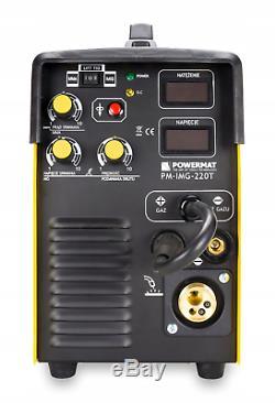 Powermat MIG 220T MIGOMAT MIG MAG TIG MMA ARC 220A INVERTOR WELDER 3in1