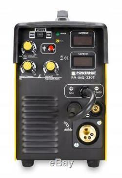 Powermat MIG 220T Welder MAG TIG Lift MMA ARC 220A 3in1 Welding Machine + GASKIT