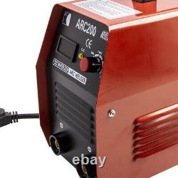Red 110V 220V ARC200 Stick Inverter Welding Machine DC IGBT MMA Welder Soldering