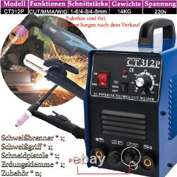Schweißgerät Pilot Arc CT312P TIG/MMA/CUT 3 in1 Multifunktion Plasmaschneidgerät