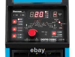 Sherman DIGITIG 200DC WIG TIG MMA ARC IGBT Inverter Pulse Welder SET Argon 8L HF
