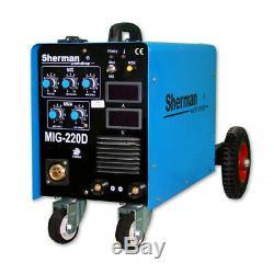 Sherman MIG Inverter welder 220D MIG / MAG MMA MOSFET ARC FORCE LED