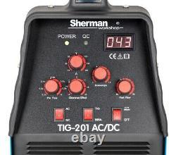Sherman TIG 201 AC/DC Inverter Aluminium Welder WIG MMA ARC Welding Machine HF