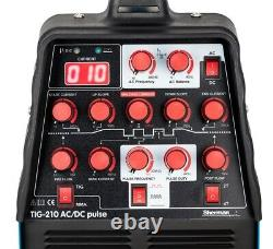 Sherman TIG 210 AC/DC pulse MMA ARC IGBT Inverter Pulse Welder HF 2T/4T SET