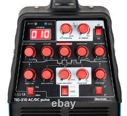 Sherman TIG 210 AC/DC pulse MMA ARC IGBT Inverter Pulse Welder SET Foot Pedal