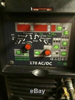 Snap on 220v 240v 170 AMP HF Start TIG AC DC pulse Inverter Welder With MMA/ARC