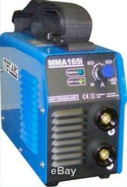 TEC ARC MMA 165i Stick Arc 160 Amp Welding Inverter Welder c/w LEADS & CASE