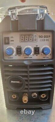 TIG Welder DC Pulse 200AMP Welding inverter machine MMA ARC HF IGBT Sherman