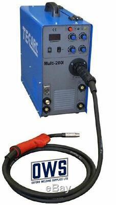 Tec Arc Multi 200i 200 Amp MIG/ TIG/ MMA Welder With HF TIG BRITISH MADE