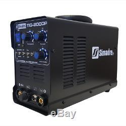 Tig Mma Pulse Simadre Tig200dp 110/220v 200a DC Welding Machine Ft Pedal & Argon