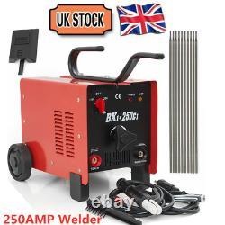 UK Ship 250AMP Welder AC ARC Stick Torch Welding Machine Kit BX1-250C1